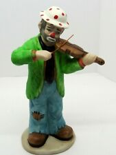 Emmett Kelly Clown Weary Willie Playing Violin Famous Sad Faced Clown In Box