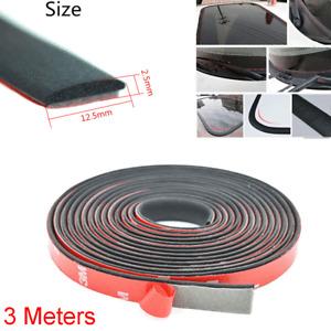 3M Car Windshield Sunroof Auto Front Rear Window Rubber Sealing Strip Noiseproof