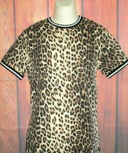MENS FOREVER 21 CHEETAH LEOPARD ANIMAL PRINT T-SHIRT SIZE M