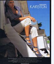 PUBLICITE ADVERTISING 094 2008 KARSTON chaussures femmes