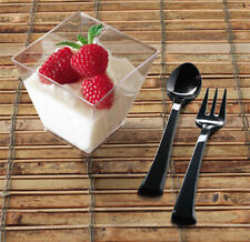 Pack of 12 Tiny Plastic 2oz Dessert Cube . . . ideal for samplings, starters etc