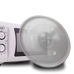 Universal Mikrowellenteller Drehtelle mit 3 Fixierern, 245 mm Glasteller DE