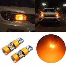2PCS T10 168 194 2825 W5W 19LED AMBER CAR PARKING BACKUP REVERSE LIGHT BULB