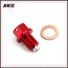CNC Billet Aluminum Magnetic Oil Drain Plug Bolt For HONDA CR125 250 Dirt Bike