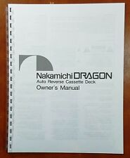 Nakamichi DRAGON Cassette Deck Owners Manual
