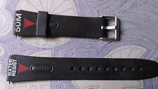 watch bands BRACELET DE MONTRE  PVC  ////      NOIR    ////    20mm CP56