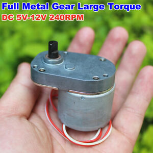 DC 5V 6V 12V 240RPM Slow Speed Reducer Mini 7-Type Full Metal Gearbox Gear Motor