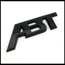 Black ABT Badge Emblem Sticker Rear Boot Tailgate For VW Golf Audi Seat Skoda