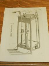 1817 Antique Print/PNEUMATICS////CUTHBERTSON AIR PUMP