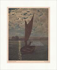 Mondnacht am Main Hans Thoma Fluss Segel Boot Mond Nacht Hirth Jugend 0139