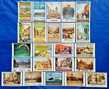 More details for postcards, set of 23 new stunning vintage england scotland repro travel posters