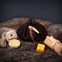 cire d/'abeille trempé Jute camping-Fatwood Kapok Feu naturel de départ Tinder Box
