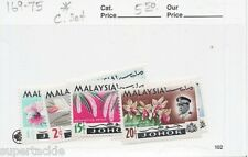 1965 Malaysia Johor #169-75 * MH Flower & Sultan Ismail stamp set