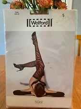 Wolford Tiger Stay Up Tights Sahara/black Size Small NWT~28043~8458~reg. 58$