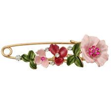 Vintage Alloy Rhinestone Crystal Flower Wedding Bridal Bouquet Brooch Pin Women-