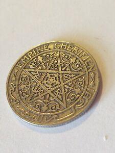 1921 1 Franc Morocco Nickel Star Coin