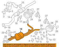 AUDI OEM 14-15 A8 Quattro 3.0L-V6-Exhaust System-Muffler Tail Pipe 4H0253409BA