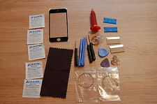 Front Glass, Screen Repair Kit for iPhone 5 5c 5s Black, loca glue, wire