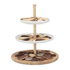Relaxdays 10022185 348 Présentoir À Gâteaux 3 Étages Céramique plat de Servic...