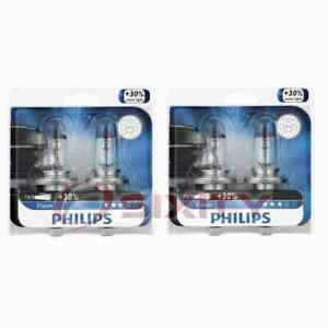 2 pc Philips High Low Beam Headlight Bulbs for Daewoo Nubira 1999-2002 mn