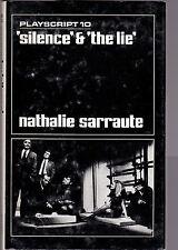 Nathalie Sarraute / Maria Jolas - Silence & The Lie - 1st 1969 - Playscript 10