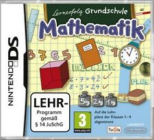 Nintendo DS 3DS MATHE LERNERFOLG Mathematik KLASSE 1 - 4 GRUNDSCHULE GuterZust.