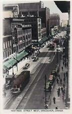 Photo. 1944-6. Vancouver, Canada. Sky View W Hastings St - streetcars