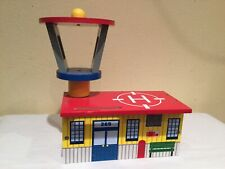 Kidkraft Helicopter Landing Pad And Station For Train Set, Brightly Colored, Euc