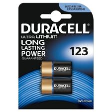 "NEW DURACELL CR123 2 PACKS ULTRA LITHIUM LONG LASTING BATTERY ""DL123B2"""