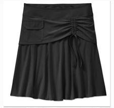 Athleta Women's Skort Black Wearever A-Line Drawstring Pocket Skirt Size 10