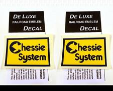 DeLuxe By Virnex Decals Yellow Blue Chessie System Herald D-115 -Two Decals-
