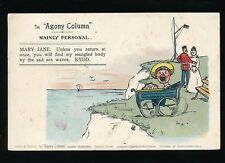 Comic Love Romance Agony Column series Mainly Personal Mary Jane used 1905 PPC