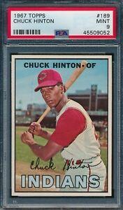 1966 Topps #189 Chuck Hinton PSA 9, None Higher *OBGcards*
