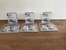 "Umbra set/3 lg ""Invisible"" Bookshelves Silvertone good for sm areas boxed w hrdw"