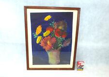 Aquarell / großes Blumenbild im Rahmen Bild sign. datiert 1935