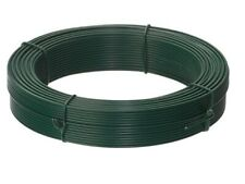 More details for 50m green pvc straining wire 2.5mm 3mm tensioning fence line wire chain link