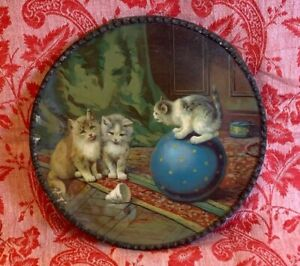 FLUE COVER LOT #85 Cats Kittens Playing Kitty sitting on ball