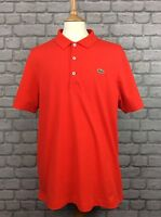 LACOSTE SPORT MENS UK XL SIZE 6 ORANGE/RED POLO T SHIRT SUMMER HOLIDAY CASUAL