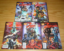 Super Zombies #1-5 VF/NM complete series - super heroes want to eat flesh