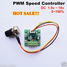 Low Voltage DC 1.8V 3V 5V 6V 9V 12V 2A Mini PWM Motor Speed Controller Regulator