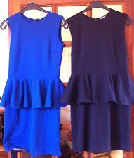 Robe Basque Volant Etam Noire Ou Bleu Taille 36 Et 38 Au Choix