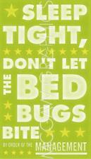 ART PRINT Sleep Tight Don't Let the Bedbugs Bite green white John W Golden 20x12