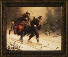 BIRKEBEINER Rescue of Prince Haakon by Knud Larsen Bergslien 20x24 FRAMED PRINT