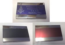 Personalized Business Card or Dues Card Holders for that Professional look