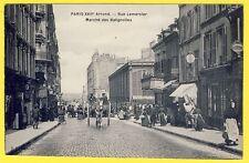 cpa RARE 75 - PARIS XVIIe Rue LEMERCIER MARCHÉ des BATIGNOLLES Market Attelage