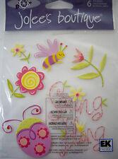 NEW 6 PC SPRING SEASONAL SPRING FLING Ladybugs Flowers Bees JOLEES Stickers