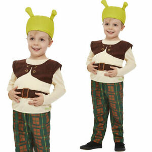 Shrek Costume Childrens World Book Day Licensed Film Fancy Dress Outfit Age1-4