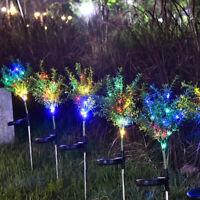 Lumière de jardin solaire forme de sapin de noël LED lampe à gazon pour