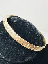 VINTAGE Celtic 9k 375 YELLOW GOLD Bangle 7.5mm Bracelet (24.8 gr)  (10K, 14K)