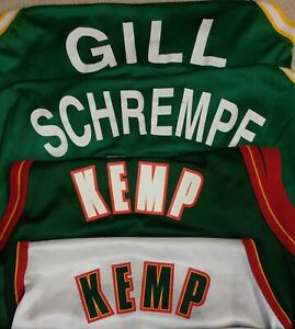 Vintage 90s Seattle SuperSonics NBA Jersey (Lot of 4)